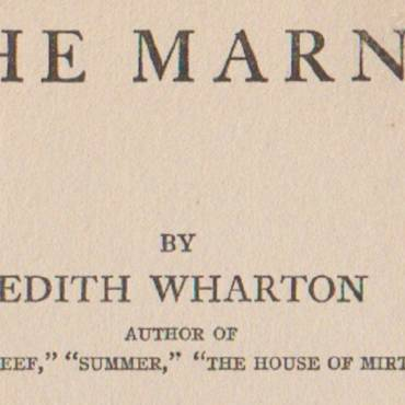 "Book review:  ""The Marne"" by Edith Wharton"