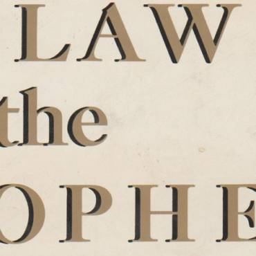 "Book review: ""The Law and the Prophets,"" edited by Robin Fox"