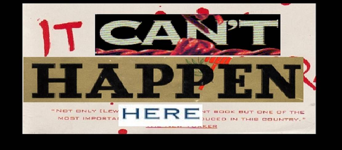 """Book review:  """"It Can't Happen Here"""" by Sinclair Lewis"""