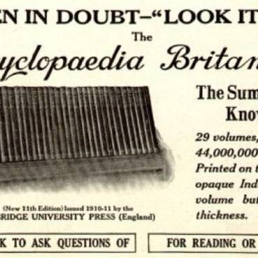 "Book review: ""Everything Explained That Is Explainable: On the Creation of the Encyclopaedia Britannica's Celebrated Eleventh Edition, 1910-1911"" by Denis Boyles"