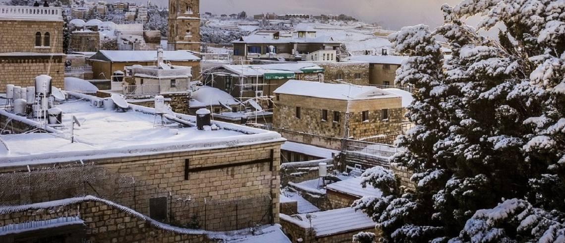 Meditation:  Snow in Jerusalem