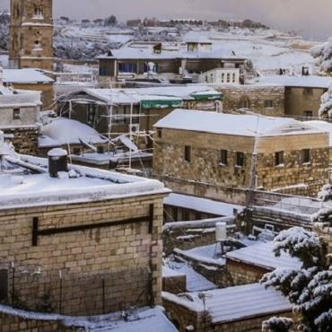 Meditation:  Snow in Jerusalem