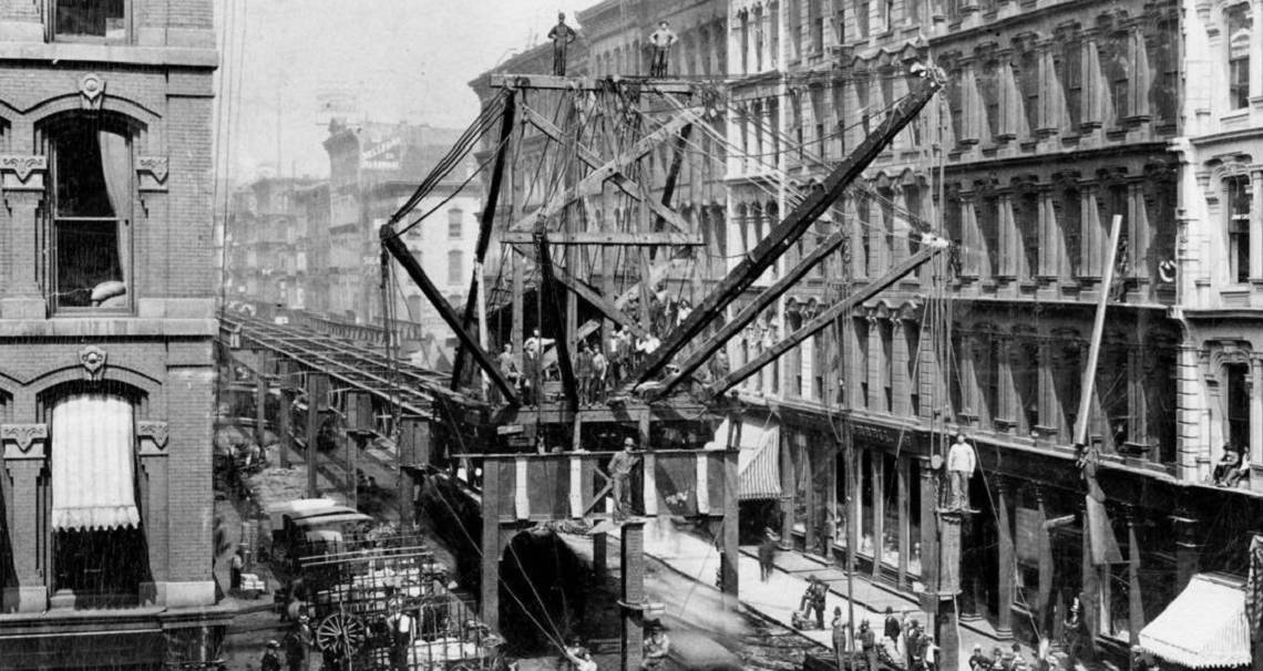 Chicago History: Building the elevated Loop with trickery, brilliance and sheer will
