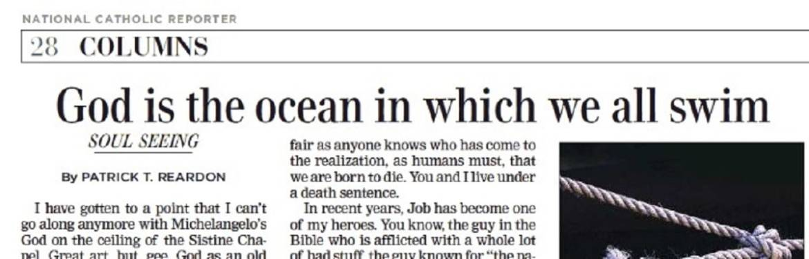 """Essay:  """"God is the ocean in which we all swim"""