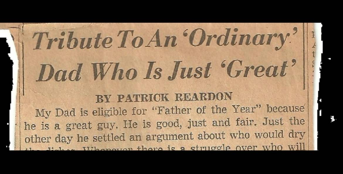 My first byline……June, 1962
